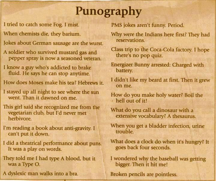 list of word puns
