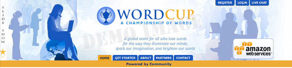 Header of former Word Cup site