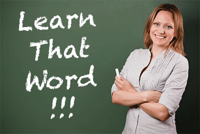 Tutor desperate to make students learn words