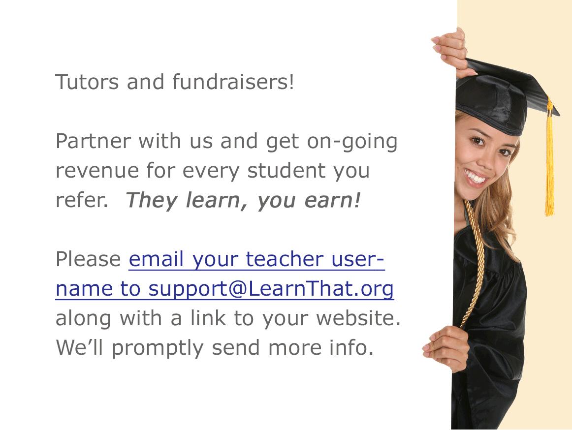 Tutor and Fundraiser invitation